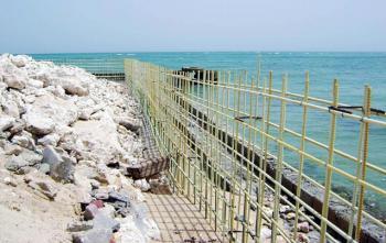 Склопластикова арматура в берегових спорудах.